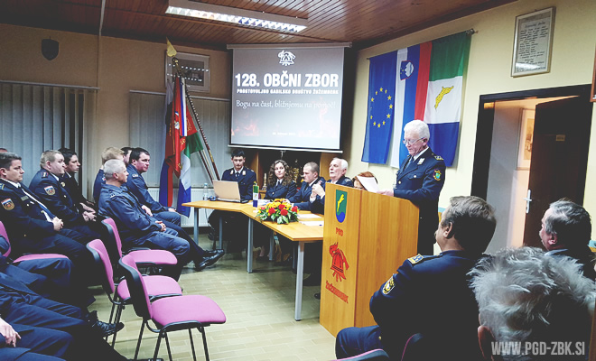 Občni zbor PGD Žužemberk - blagajnik Mihael Fiilipič