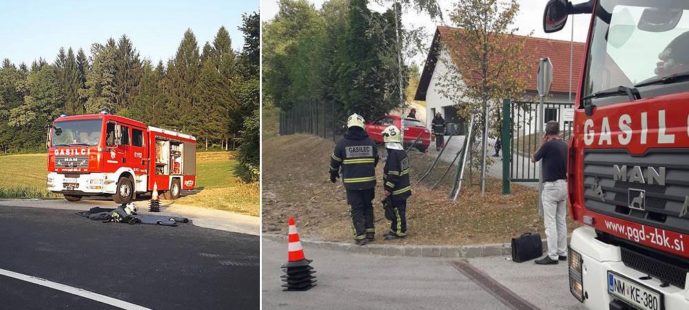 Prometna nesreča z materialno škodo