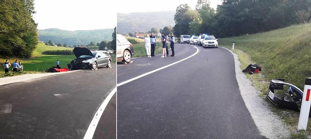 Prometna nesreča 21-letnega motorista z Mirne, Žužemberk