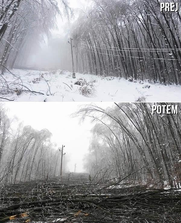Snegolom: prej in potem