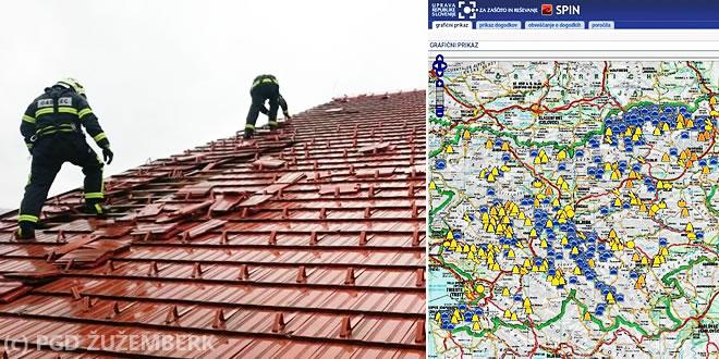 Neurje pustošilo po Sloveniji, december 2017 - prizadeto tudi območje Suhe krajine